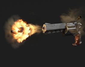 Skull Buster Revolver Handgun 3D asset