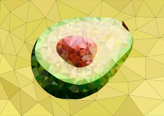 Lowpoly avocado