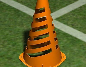 Plastic Sports Cone 3D