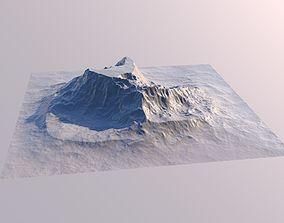 Iceberg Mountain Landscape 3D Model Sci Fi Futuristic