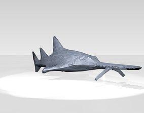 3D model Sawshark Low Poligonal