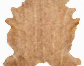 3D Beige Cow Hide Rug