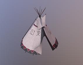 3D model game-ready Shaman Tent