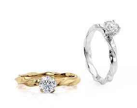 Engagement ring spiralle 05 centr 3D printable model