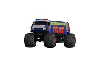 3D asset Police Limo