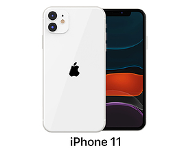 Apple iPhone 11 White 3D