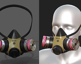 3D asset Gas mask respirator scifi military futuristic 1