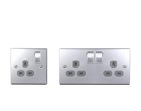 3D asset Socket LOW POLY