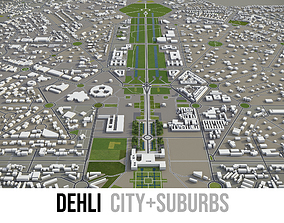 3D asset Dehli - city and surroundings