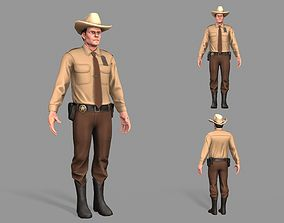 Policeman Sheriff 3D model