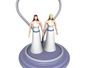 Wedding Toppers Two Women 3D model
