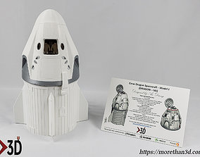 SpaceX Crew Dragon Capsule - MJ 3D printable model