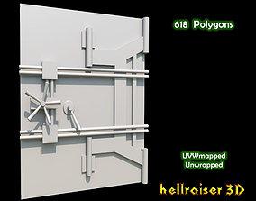 Safe Door 3D asset low-poly