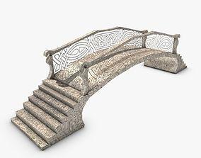 3D asset Low poly fantasy bridge