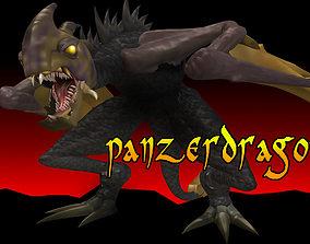 3D model animated Panzer Dragoon