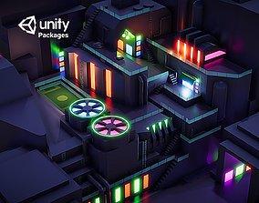 Future city Level 1 VR Game Unity PKG 3D asset