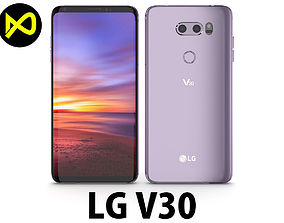 LG V30 Lavender Viot 3D model
