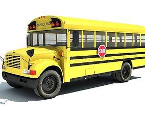 3D School Bus coach