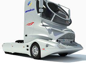 3D Future White Truck