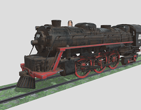 3D model Steam Engine Train Wagon