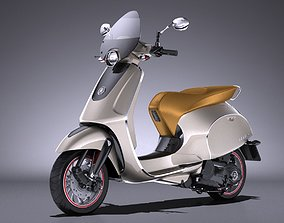 Generic Retro Scooter 2017 3D
