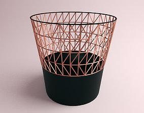 3D model Rose Gold Dust Bin
