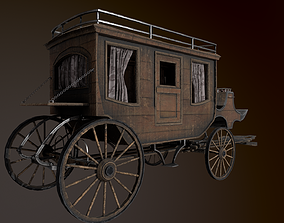 3D asset Stage Coach