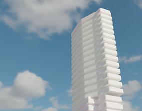 Modern Skyscraper 3D model low-poly