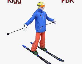 3D asset Skier