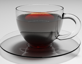 Tee or Coffee Cup and Plate - 3D Model design