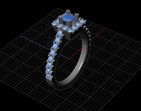 3D printable model jewellery ring illustration