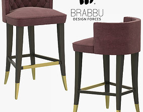 Brabbu Bourbon Counter Stool 3D model