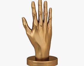 Hand shape 3D printable model figurine
