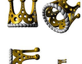 Rings anello corona-CG20 3D printable model