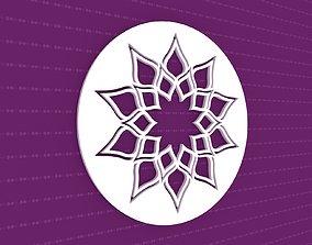 Mandala 3D flower ornament