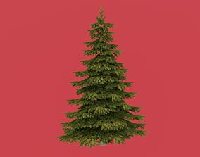 environment leaf Christmas tree 3D model
