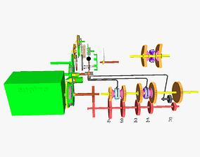 IC motor transmission 3D printable model