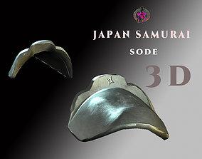 3D asset Japan Samurai Sode