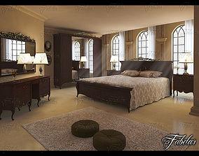 Bedroom 3D model hotel
