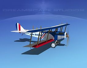 3D model Curtiss JN-2 Jenny Sport