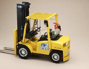 3D model Container Handler forklift