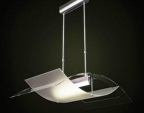 3D glass Modern Ceiling Lamp