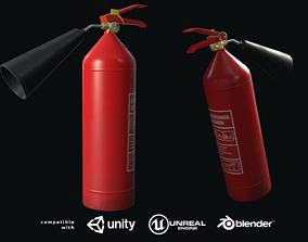 Fire extinguisher 3D asset low-poly PBR