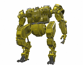 Battle mech robot piston 3Y 3D model