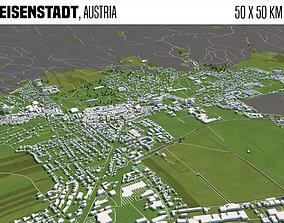 3D Eisenstadt Austria 50x50km