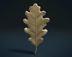 Oak leaf 3D printable model