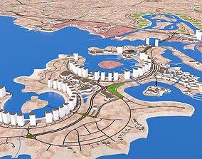 exterior Doha city Qatar full October 2020 3d model
