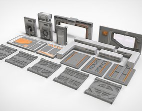 sci-fi Architecture kitbash 32 3D