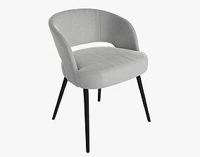 3D model Chair modern upholstered 01