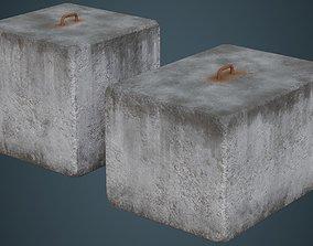 Concrete Barrier 4B 3D model